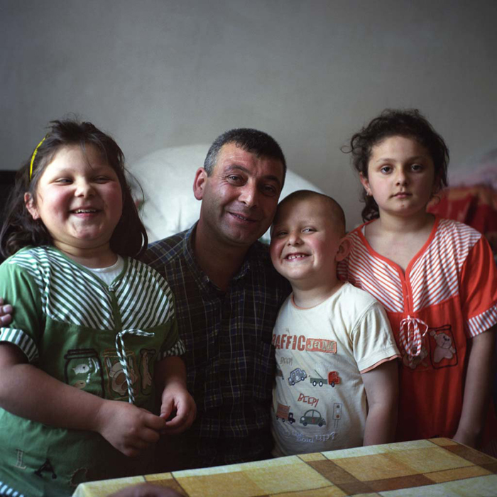 Elman Mamedov from the Azeri capital of Baku. The father of three went to fight, he says, so that other peoples' children would not die.