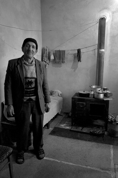 Portrait of an old Tatar in his own home. Yalta, December 2007
