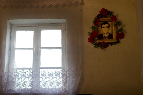 Portrait of Valodia Petrosyan. He died in 1993 during the Karabakh War.