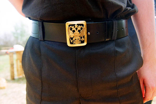 Belt buckle with the imperial coat of arms. Stanitsa Elizavetinskaya. April 2010