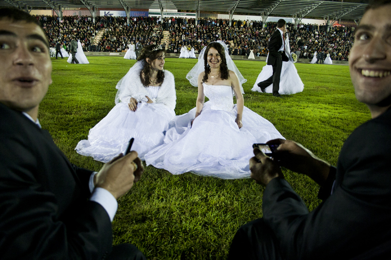 The Wedding celebration in Stepanakert stadium.