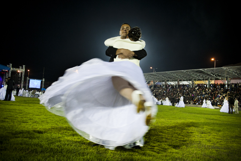 Vladimir, 24 and Noemi, 19, performing their wedding tango.