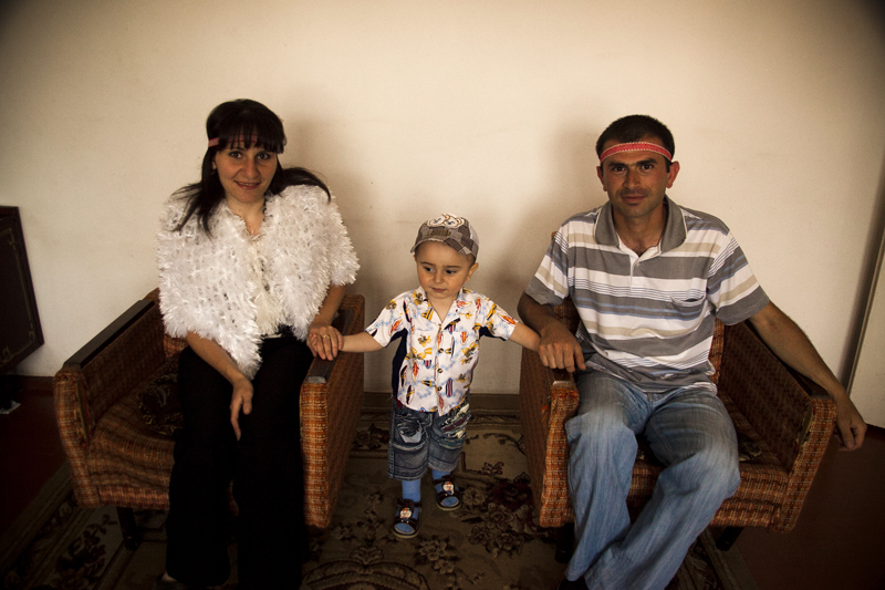 2011. Shushi. Elina Grigoryan, 27, and Ashot Grigoryan, 28, have a son of 2 years old and expecting the second child.