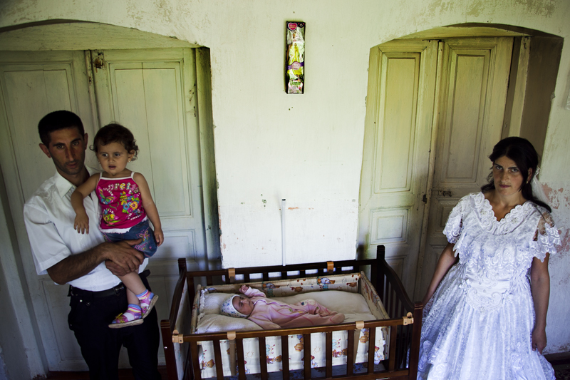 2011. Village of Aygestan. Lyuda Petrosyan, 24, and Arayik Petrosyan, 29, have 2 daughters – one 2 years old, the other – 2 months. They say they are going to have 2 more children.