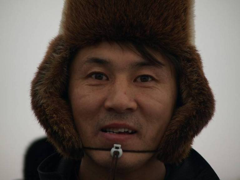 Just a portait of a Nenets man with the unusual name of Ananya - village of Nes.