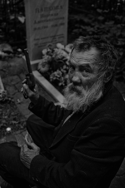 Constantine Martinov (as he claims) is a homeless man who makes a few bucks by doing work in the Military Cemetery in Minsk