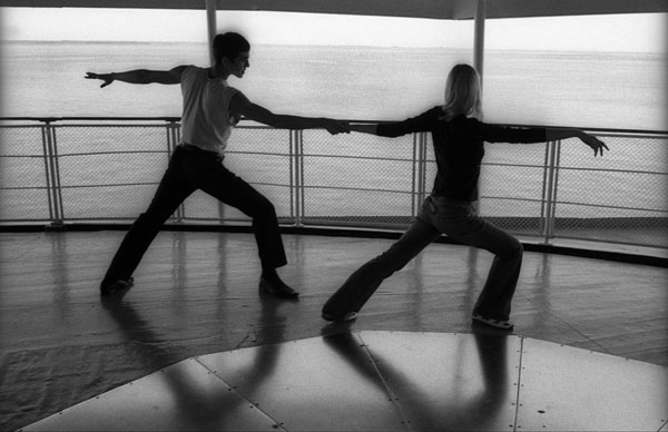 Dancers on the deck of the
