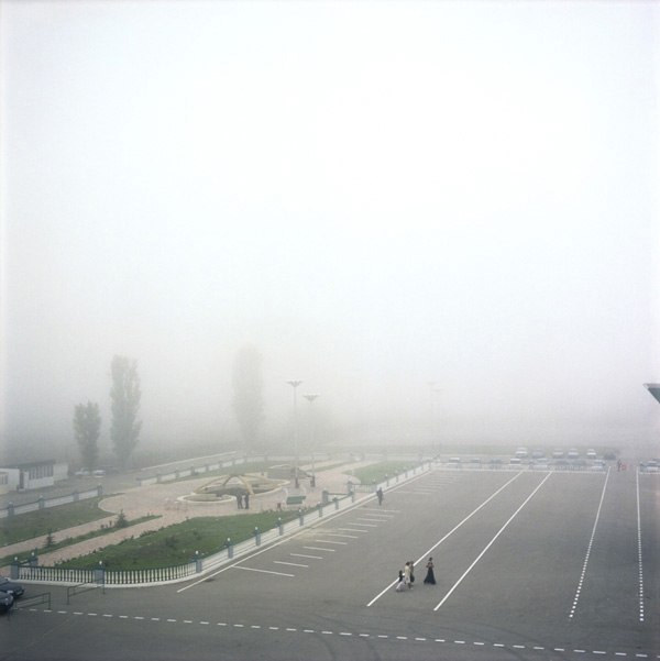 A square in front of the airport, Grozny, Chechnya