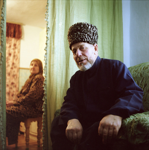 An old man in traditional clothing, Grozny, Chechnya