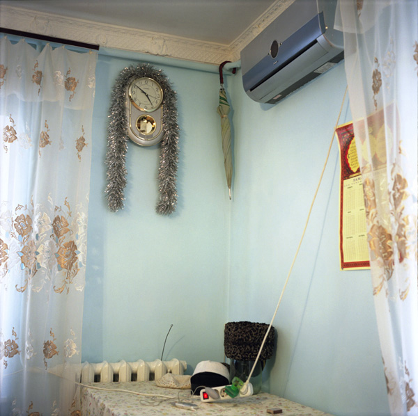 Interior of a living room, Grozny, Chechnya