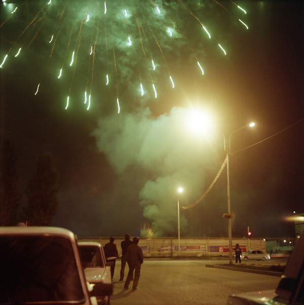Fireworks marking the birthday of Chechen president Ramzan Kadyrov, Grozny